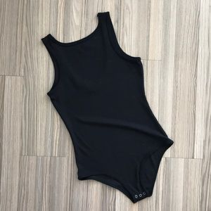 Weekend soul black high neck bodysuit